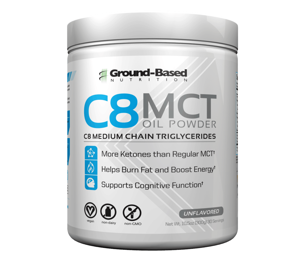 Ground Based Nutrition C8 Mct -öljyjauhe
