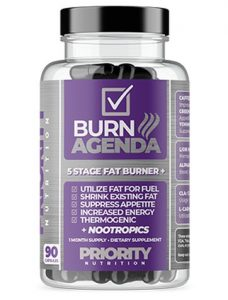 Priority Nutrition Daily Burn 5 Stage Fat Burner