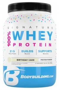 Bodybuilding Signature Whey Protein Birthday Cake Flavor