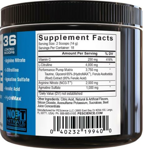 Example Of Pre Workout Supplement Ingredients